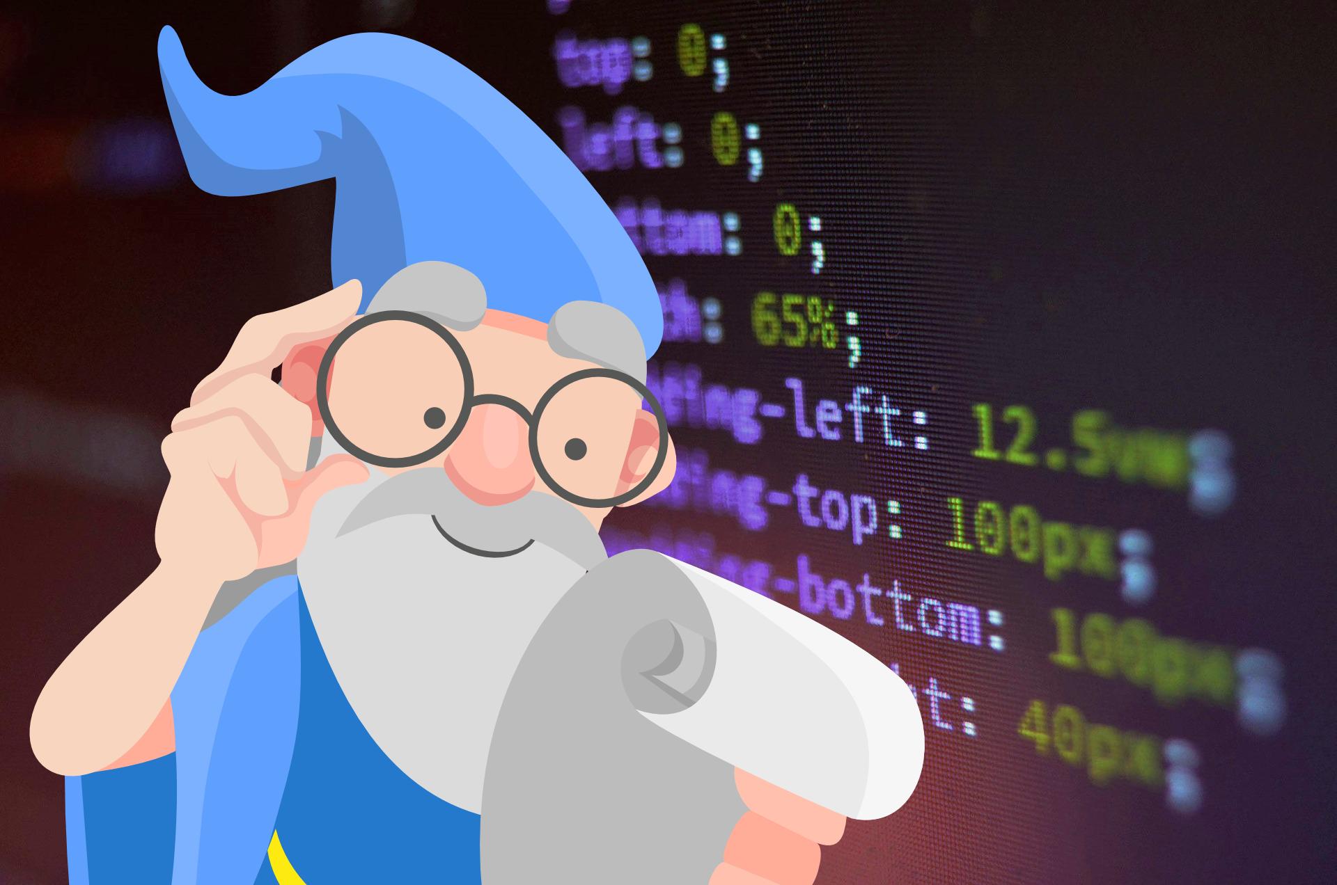 Wizard perusing CSS code